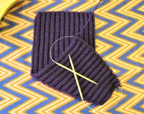 Cartridge belt ribbed scarf